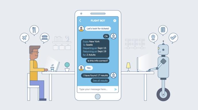 Como 5 Empresas Inovadoras Estão Usando Chatbots para Comunicar: Chatbots— programas que contam com Inteligência Artificial para imitar conversas humanas —são uma das tendências mais quentes em marketing digital no momento. Cerca de 1,4 bilhão de pessoas por ano estão interagindo com chatbots. E, em um estudo recente da Oracle, 80% das empresas relataram que já usam ou planejam usar chatbots até 2020. SAIBA MAIS! ➤ Está procurando pelas principais tendências do Marketing Digital? Esteja sempre um passo a frente da concorrência: subscreva agora mesmo a nossa Newsletter e fique por dentro das melhores estratégias testadas pelos melhores digital marketeers ao redor do mundo! ➤ Marketing de Conteúdo, Redes Sociais, Content Marketing, Social Media, Tendências 2019, Inteligência Artificial, Estratégias Online, Estratégias Digitais